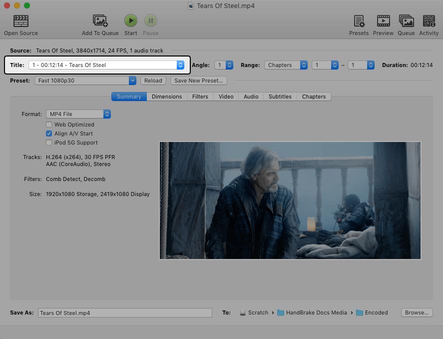 HandBrake Documentation — Using the Queue