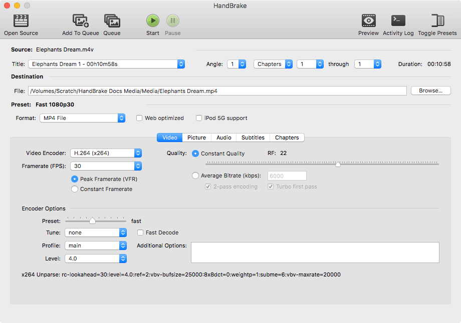 Screenshot of Mac GUI