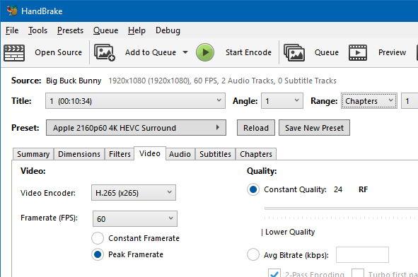 Screenshot of Windows GUI